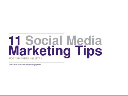 11 Tips for Social MediaMarketing